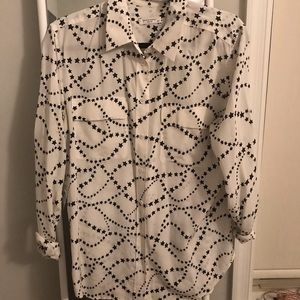 Women's patterned button-down top